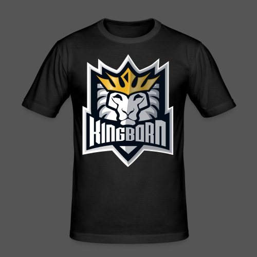 KingbornWhite - Männer Slim Fit T-Shirt