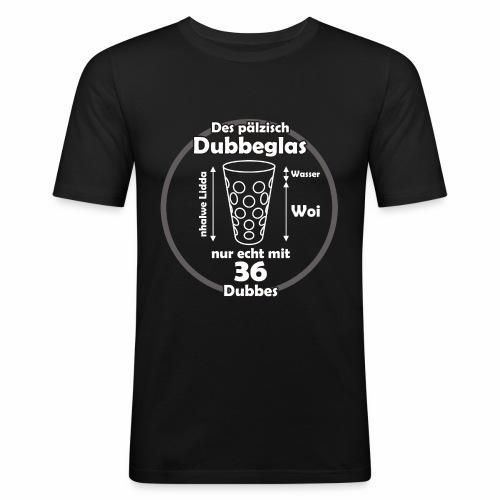 Das Dubbaglas weiss - Männer Slim Fit T-Shirt