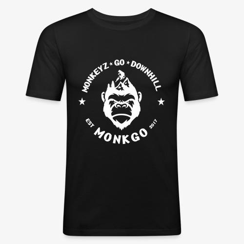 MonkGo Circle - Männer Slim Fit T-Shirt