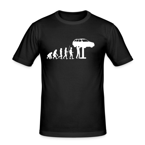 Evulotion Werkstatt - Männer Slim Fit T-Shirt