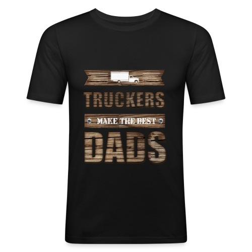 Truckers make the best Dads - Männer Slim Fit T-Shirt