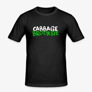 cabbagebrooksie logo v2 - Men's Slim Fit T-Shirt