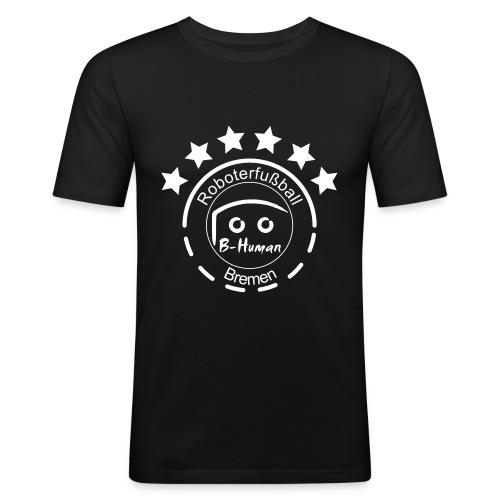 B-Human Roboterfußball Logo - Männer Slim Fit T-Shirt