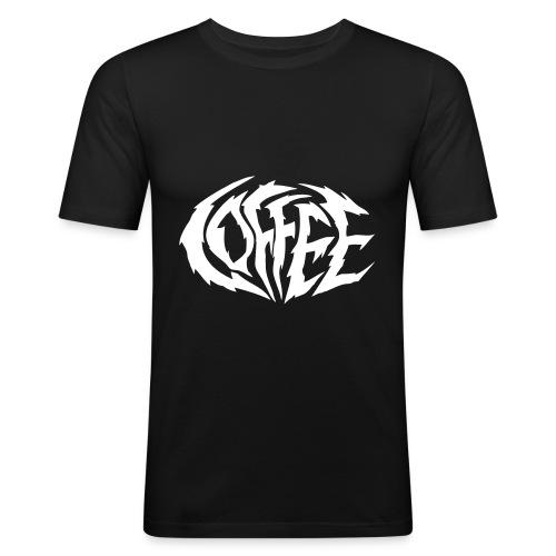 Coffee Kaffee Heavy Metal Logo - Männer Slim Fit T-Shirt