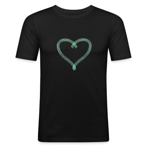 Green Heart - Men's Slim Fit T-Shirt