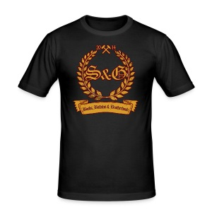 S & G - Boobs, Bullshit & Brotherhood - Männer Slim Fit T-Shirt