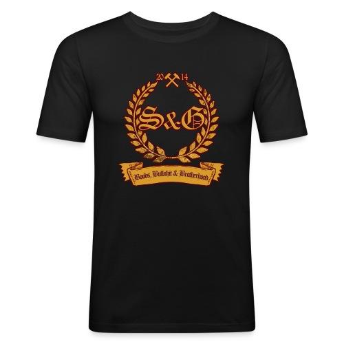 S & G - Boobs, Bullshit & Brotherhood - Männer Slim Fit T-Shirt