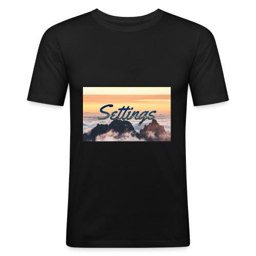 Settings Clouds - Men's Slim Fit T-Shirt