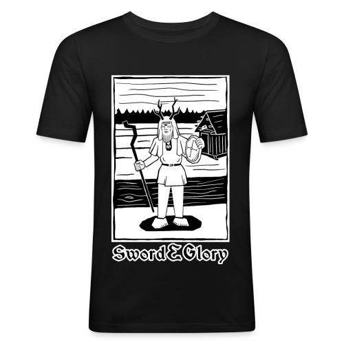 Tietäjä - Miesten tyköistuva t-paita
