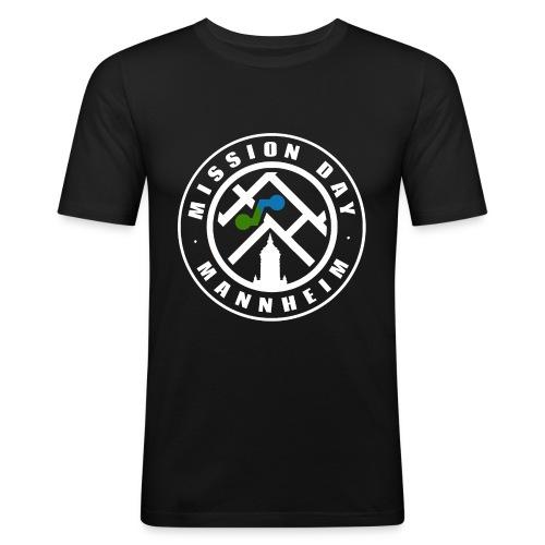 Mission Day Mannheim rund weiss - Männer Slim Fit T-Shirt