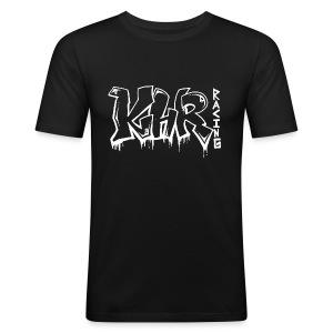 KHR-Racing Graffiti / Weiß - Männer Slim Fit T-Shirt