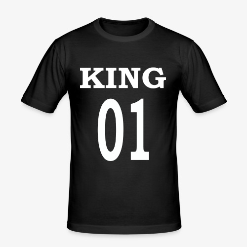 King01white - Männer Slim Fit T-Shirt