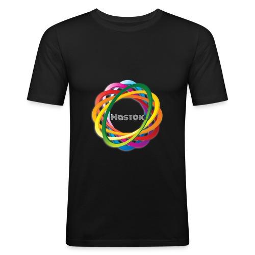 Mastok`s Logo - Männer Slim Fit T-Shirt