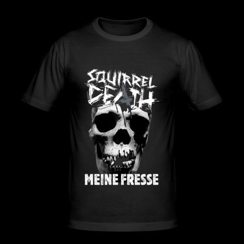 SQUIRREL DEATH - 'MEINE FRESSE' - Männer Slim Fit T-Shirt