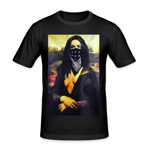 Mona Lisa Gangsta - Obcisła koszulka męska