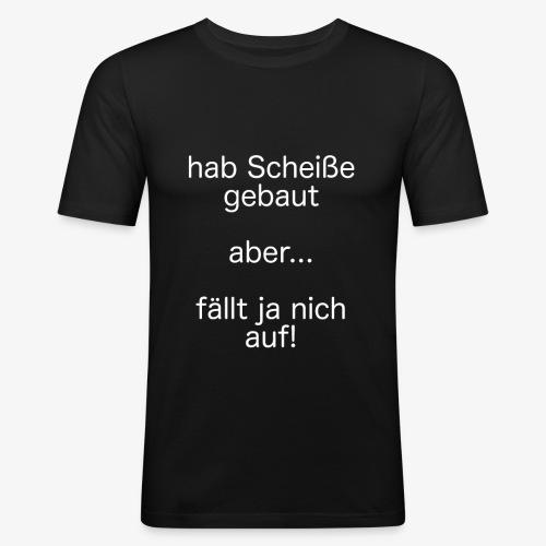 fällt ja nich auf! - weiß - Männer Slim Fit T-Shirt