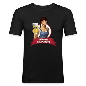 Unser Logo auf deinem Shirt - Männer Slim Fit T-Shirt