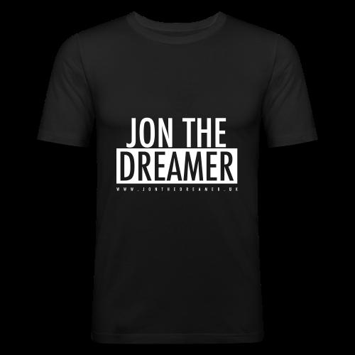 JON THE DREAMER LOGO - BLACK - Men's Slim Fit T-Shirt