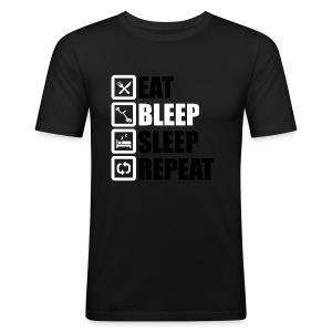 EAT BLEEP SLEEP REPEAT - Men's Slim Fit T-Shirt