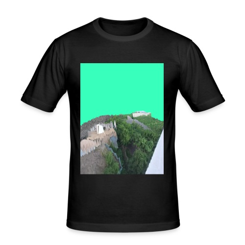 Köln Glitch - Männer Slim Fit T-Shirt