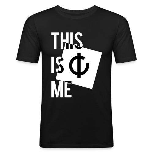 C'est moi + logo - T-shirt près du corps Homme