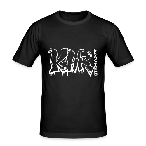 KHR-Racing Graffiti / Weiß - Männer Slim Fit T-Shirt