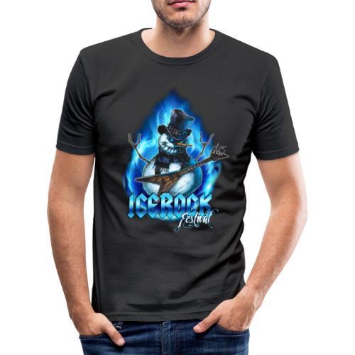 Snowman Evil - Männer Slim Fit T-Shirt
