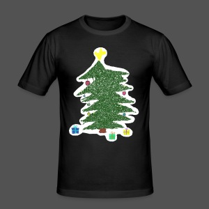 Christmas Kids-Drawing - Männer Slim Fit T-Shirt