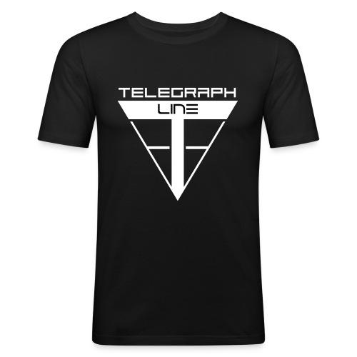 Telegraph Line Logo - Maglietta aderente da uomo