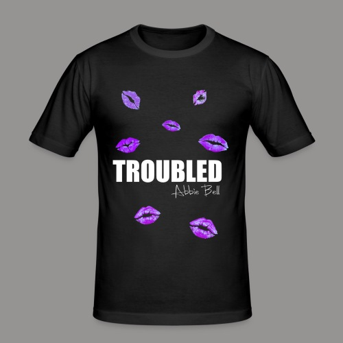 TROUBLED KISSES T-shirt - Men's Slim Fit T-Shirt