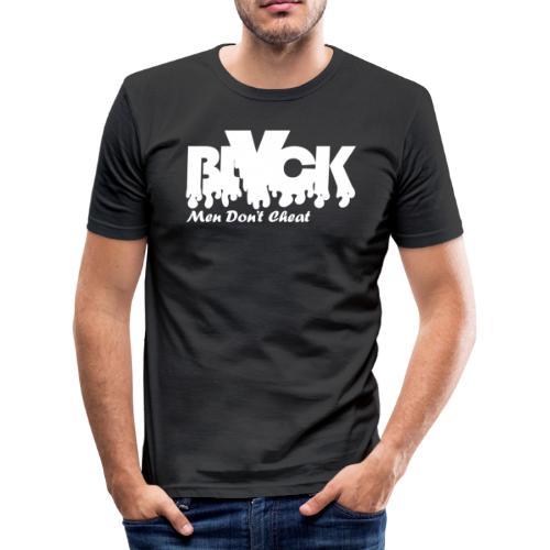 blvck men don't cheat - Men's Slim Fit T-Shirt