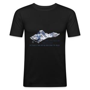 Oltre tutte le montagne... - Maglietta aderente da uomo