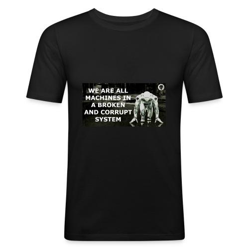 BROKEN MACHINES COLLECTION BY SYSTEM MACHINE - Men's Slim Fit T-Shirt