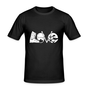 Skiing Love Shirt - Men's Slim Fit T-Shirt