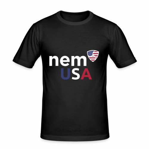 NEM USA white - Maglietta aderente da uomo