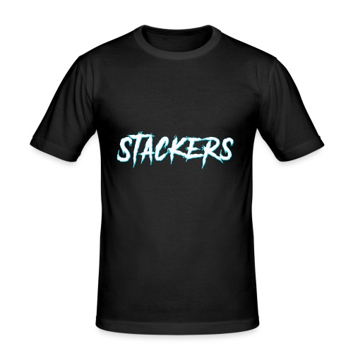 STACKERS (Blue) - Men's Slim Fit T-Shirt