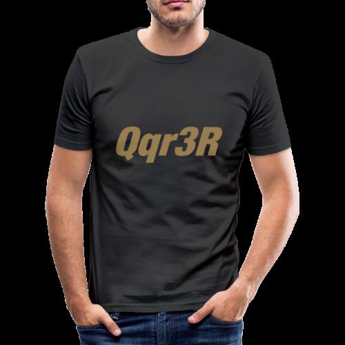 Qqr3R - Männer Slim Fit T-Shirt