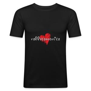 Amo la Vallecamonica - Maglietta aderente da uomo