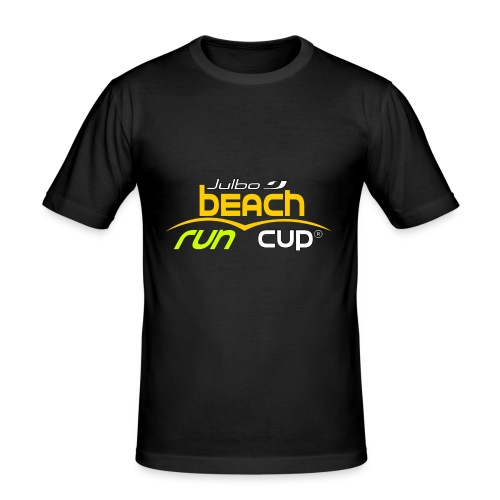 SPREADSHIRT_Atelier_Beach_run_v3_-1- - T-shirt près du corps Homme