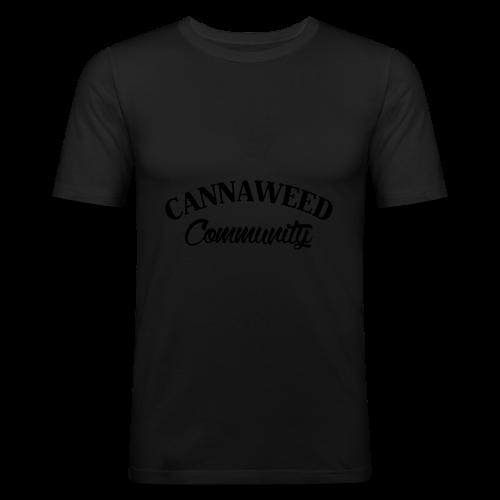 noir sur blanc CWD Communauté - T-shirt près du corps Homme