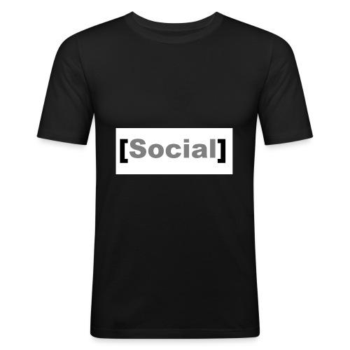 SocialMoods - Männer Slim Fit T-Shirt