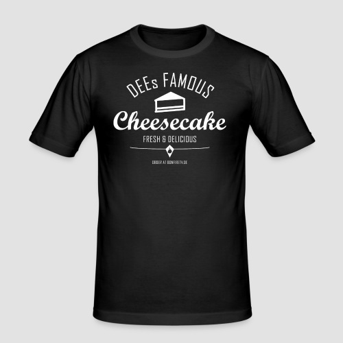 DEEs Famous Cheescake - Männer Slim Fit T-Shirt