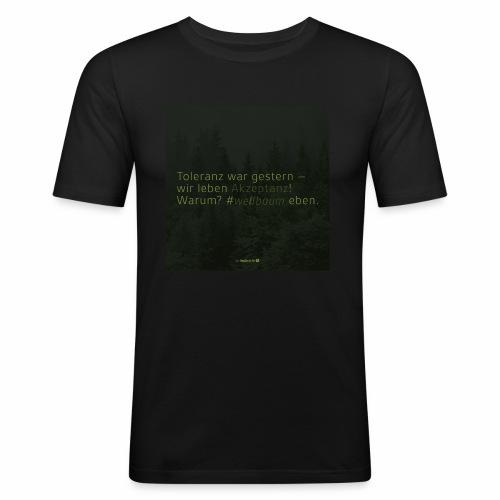#weilbaum-T-Shirt Akzeptanz - Männer Slim Fit T-Shirt