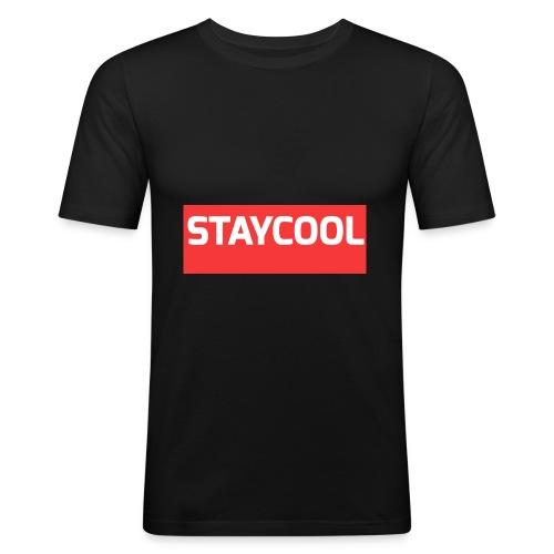 STAYCOOL Aufdruck ohne YETAIS - Männer Slim Fit T-Shirt