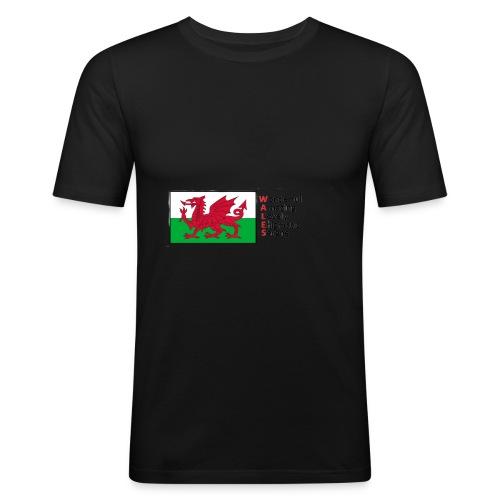 wales_letters - Men's Slim Fit T-Shirt