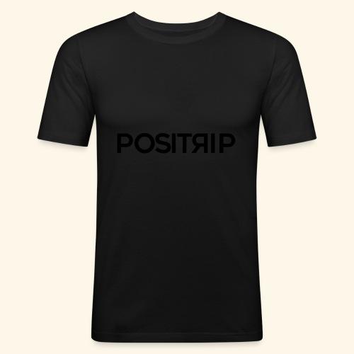 Positrip logo - Maglietta aderente da uomo