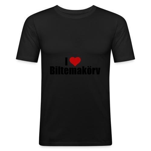 I Love Biltemakörv - Slim Fit T-shirt herr