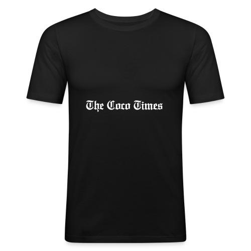 thecocotimes-wht - T-shirt près du corps Homme