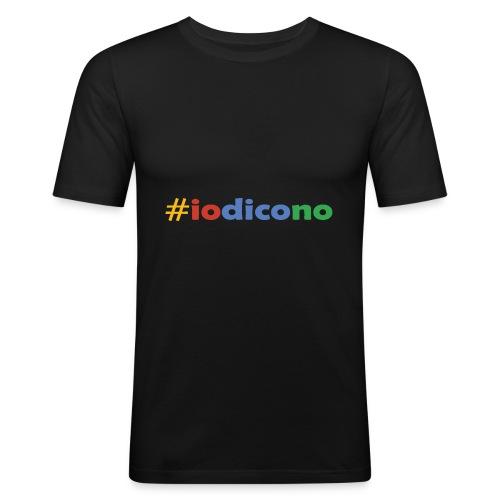 #iodicono - Maglietta aderente da uomo