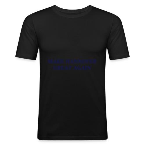 Make Hannover Great Again (Navy auf Weiß) - Männer Slim Fit T-Shirt